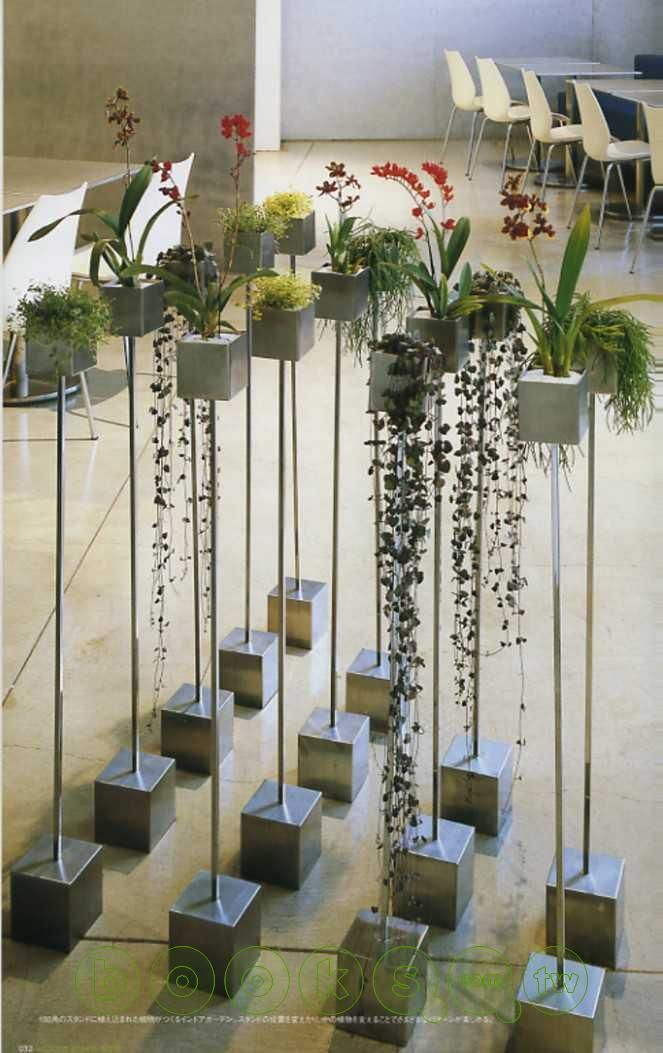 planting stand Rebar in cement might be something to create