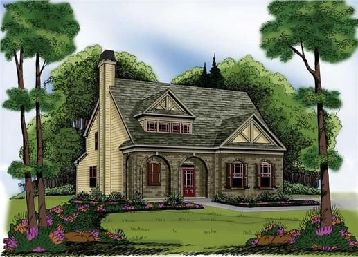 Home Plan Chastain Has A Simple Floor Plan That Dedicates Space To The Most Important The Master Monster House Plans French Country House Plans Tudor Cottage
