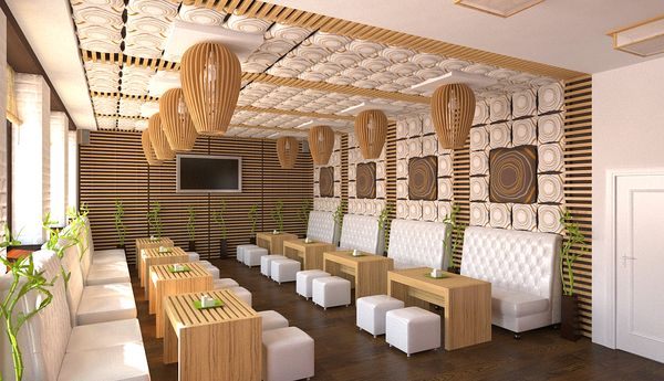 Sushi Bar Design venus booths and pods | sushi bardmitryi ditkovskyi, via