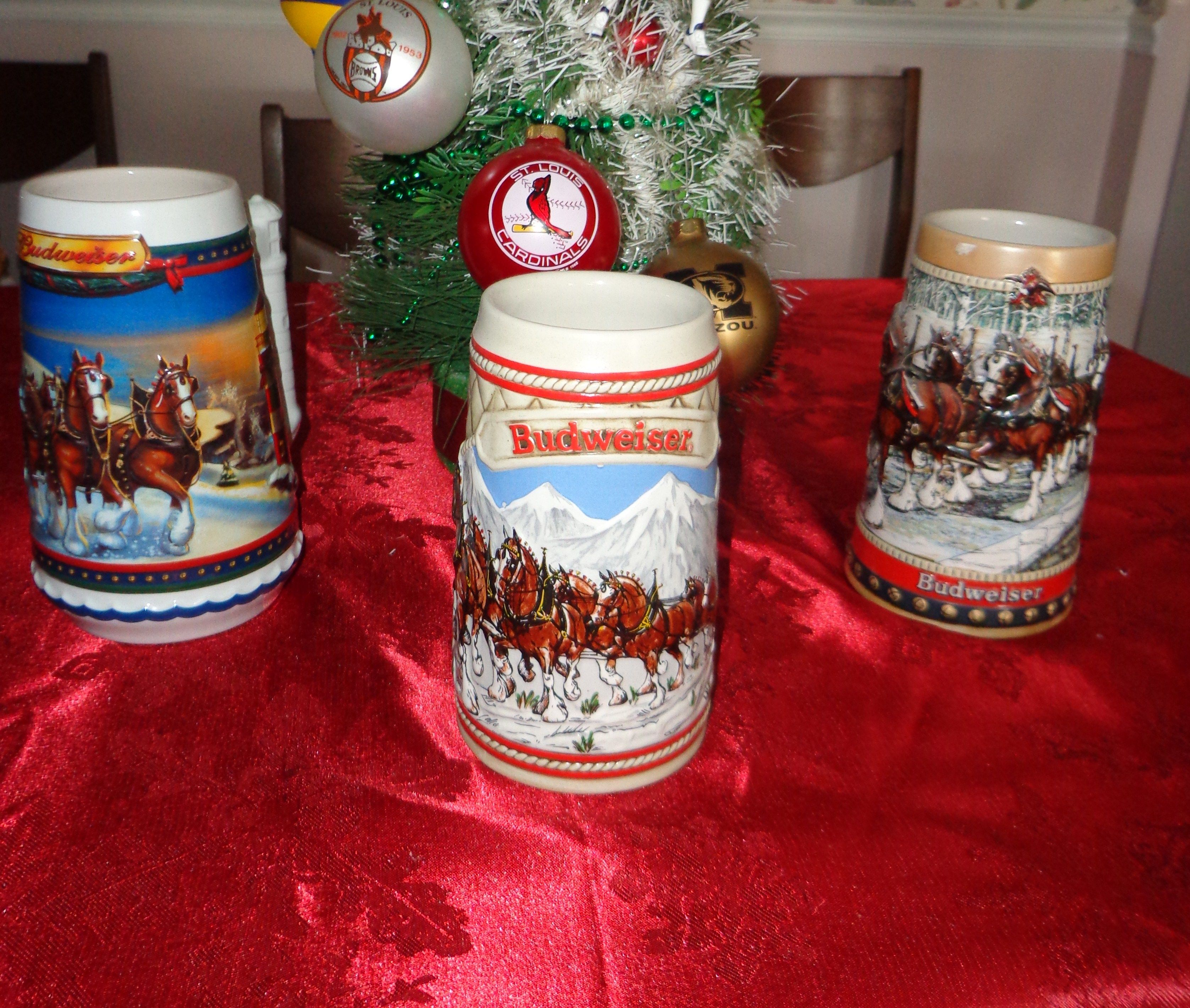 budweiser christmas steins - Budweiser Christmas Steins