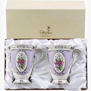 60th Diamond Wedding Anniversary Beaker Set These Beautiful Bone China Pollyanna Are A Wonderful Keepsake Gift