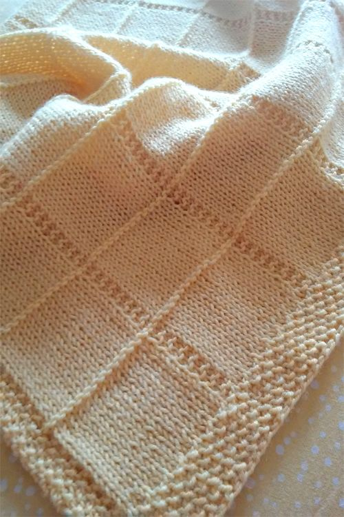 Easy Baby Blanket Knitting Patterns | Manta, Tejido y Bebe