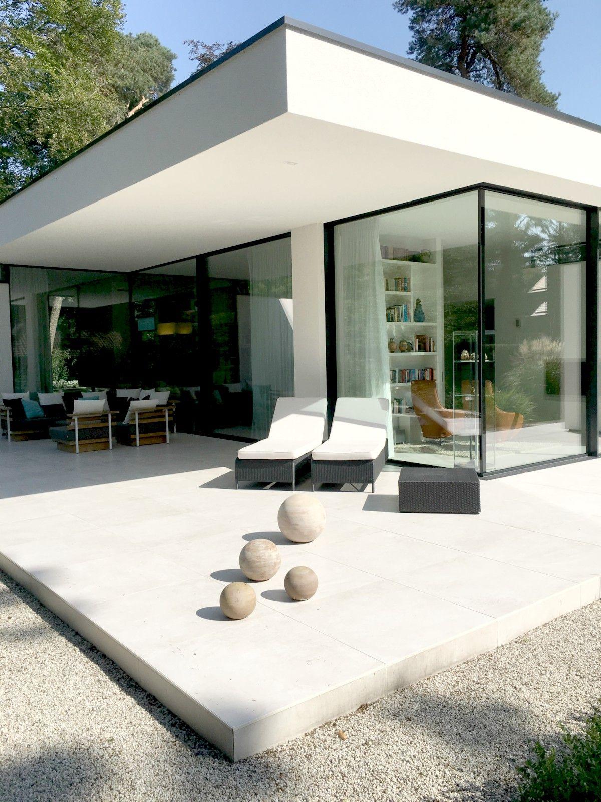 Buitenontwerp, Modern Huis Exterieur, Moderne Tuin