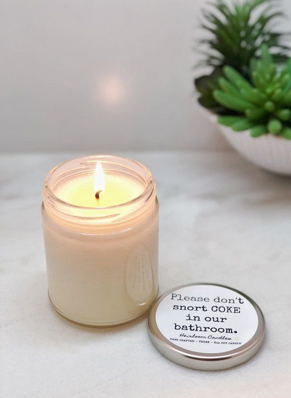 Funny Bathroom Decor Candle - Pick your Scent - Vegan ...