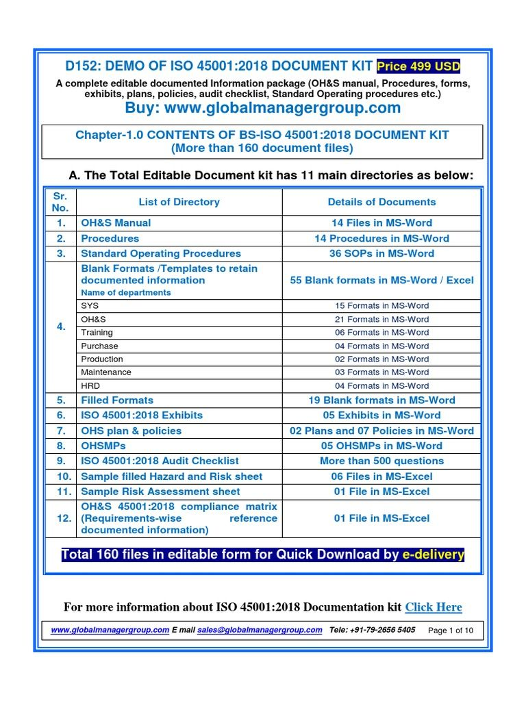 Pin by Global Manager Group on ISO 45001 Certification