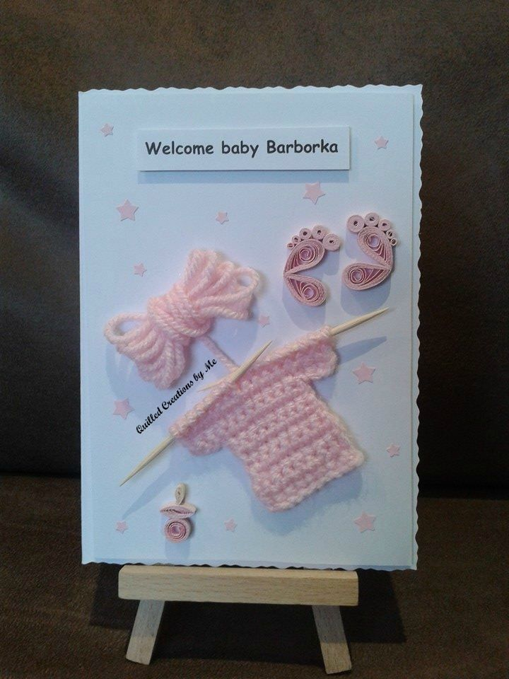 Baby Girl Card Making Ideas Part - 38: Personalised Baby Girl Card Made By Quilled Creations By Me