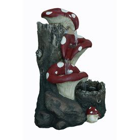 Garden Treasures 23.23 In Fiberglass Fountain Statue