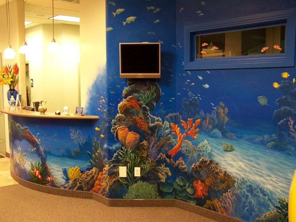 Underwater ocean scene detail mural idea in salt lake for Underwater mural ideas