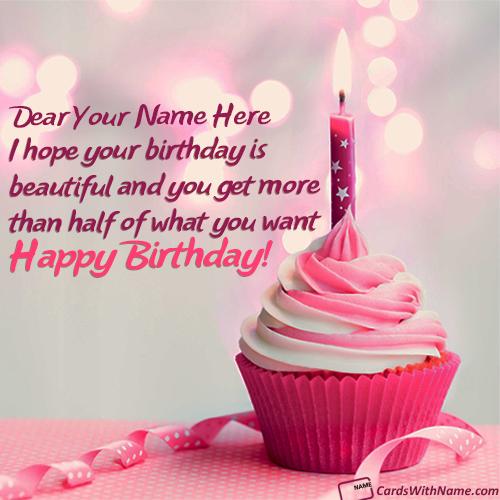 Best Rose Birthday Cake Of Name Generator