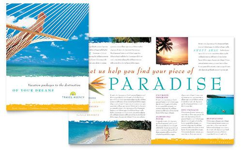 Travel Agency Brochure Template by @StockLayouts Travel - sample travel brochure