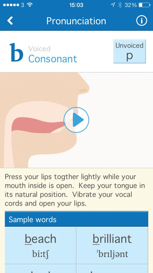 Pronunciation App Accent modification, Pronunciation