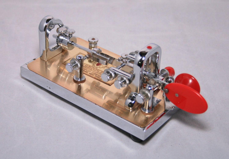 1951 Vibroplex Deluxe Presentation Original Morse Telegraph