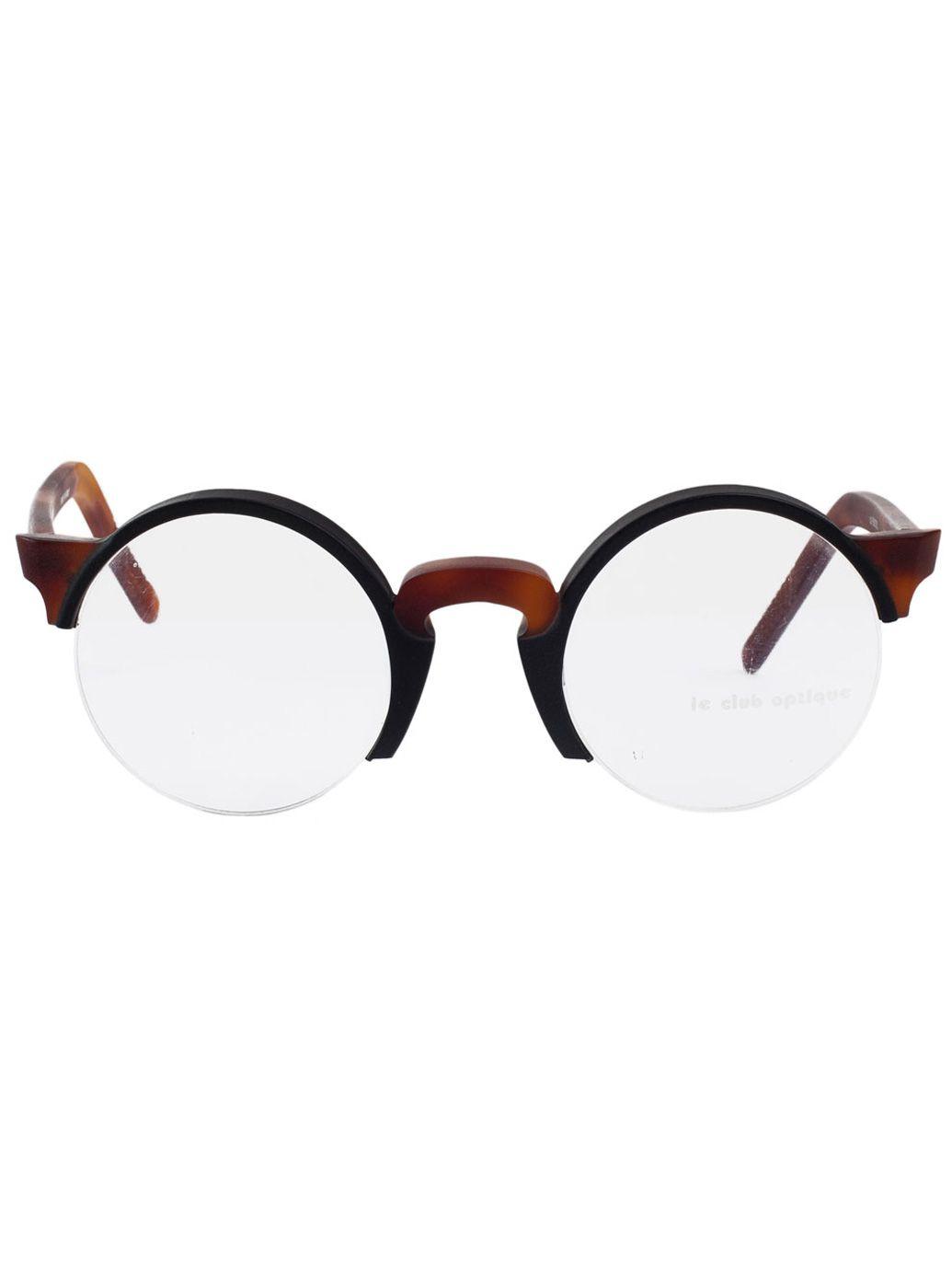 Vintage Le Club Optique Round Black/Tortoise Shell Eyeglasses ...