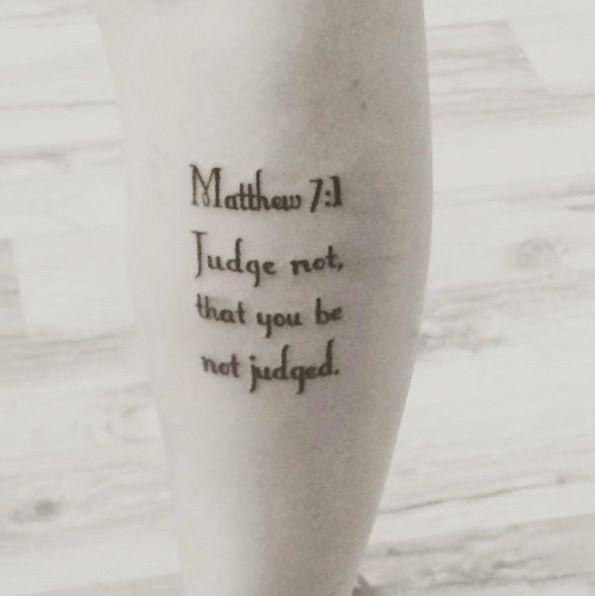 Matthew bible verses tattoos