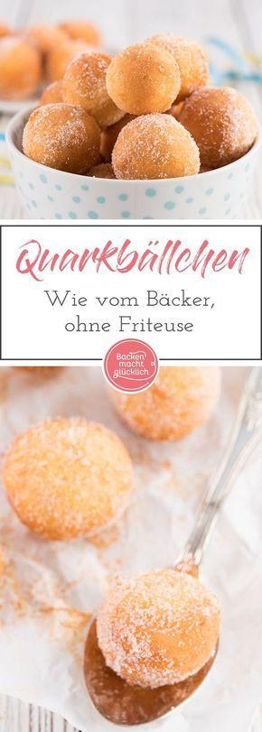 Quarkbällchen wie vom Bäcker | Backen macht glücklich
