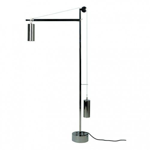 Eb 27 Bauhaus Floor Lamp With Counterbalance Nickel Tecnolumen
