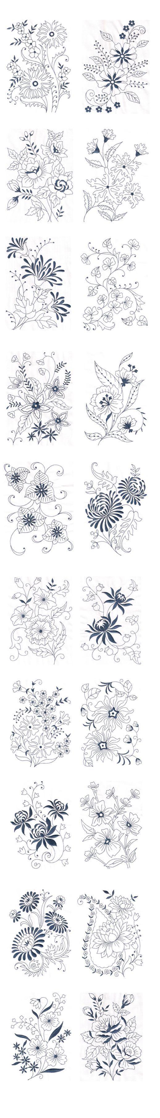 Floral designs... | Bordados | Pinterest | Bordado, Bordado crewel y ...