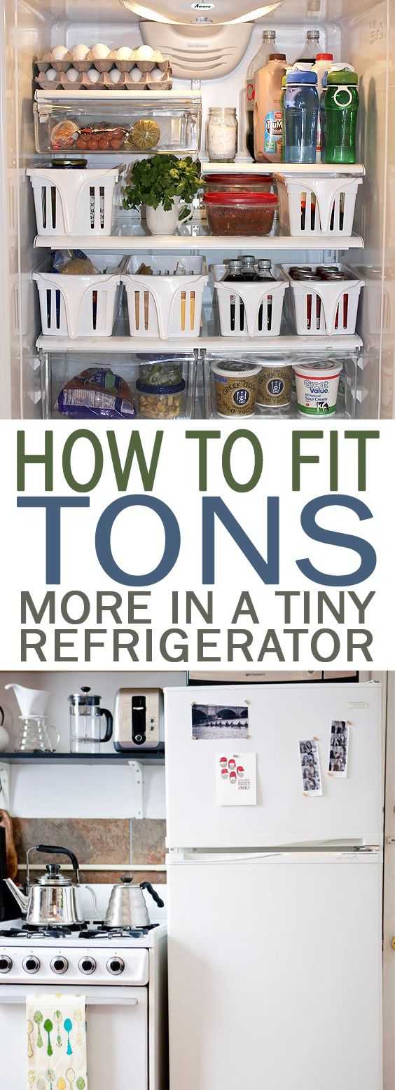 How to Fit TONS More in a Tiny Refrigerator - 101 Days of ...
