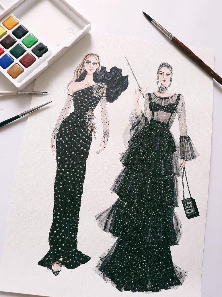 DOLCE AND GABBANA - FALL 2018   illustration  fashionillustrated  fashionillustration  illustrations  illustrator  illustrators  art  artist  artwork  sketch  sketches  arronlamaluan  vietnamillustrator