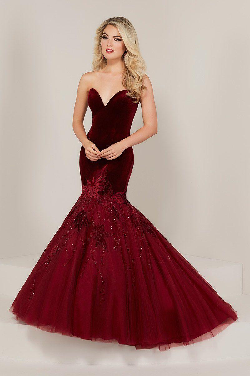 Tiffany designs velvet mermaid prom dress house of wu