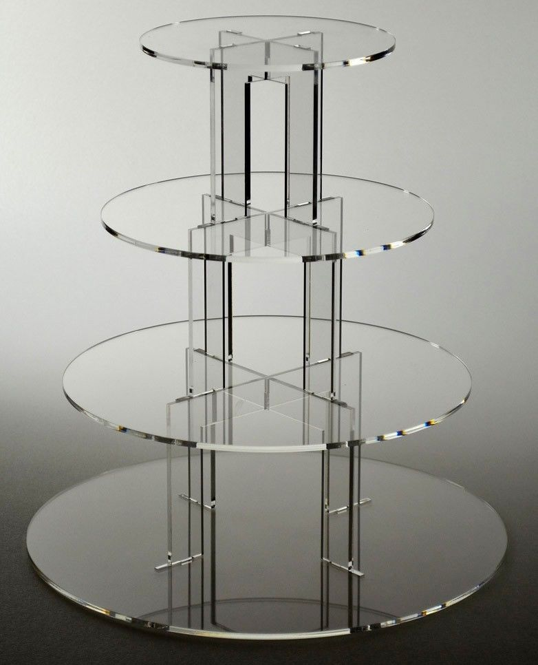 4 tier round acrylic cupcake stand clear wedding cake stand & 4 tier round acrylic cupcake stand clear wedding cake stand ...