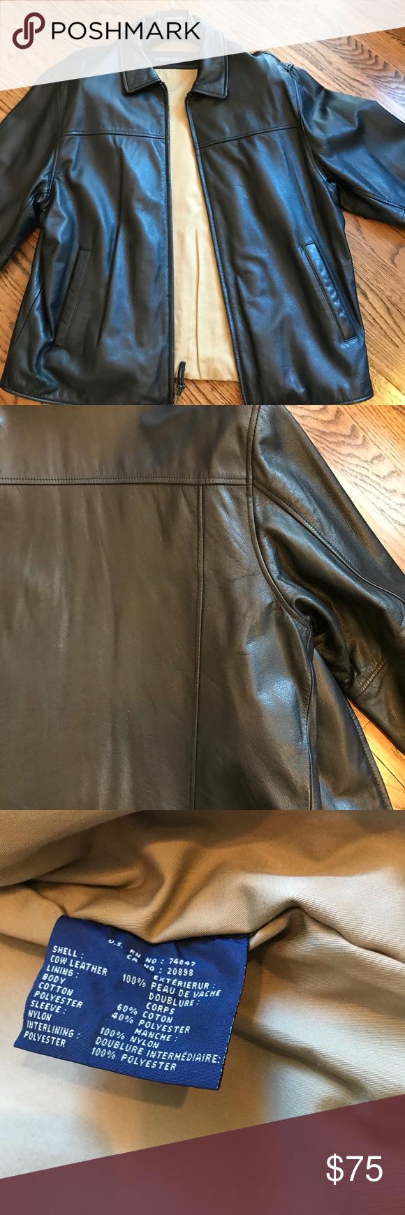Dockers men's leather jacket large Leather jacket