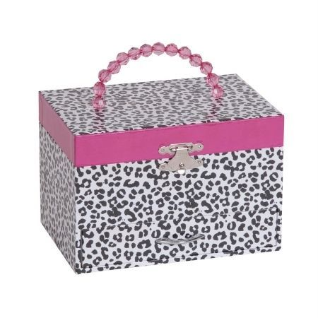 Mele & Co. Jesse Girl's Musical Ballerina Jewelry Box with Leopard Design