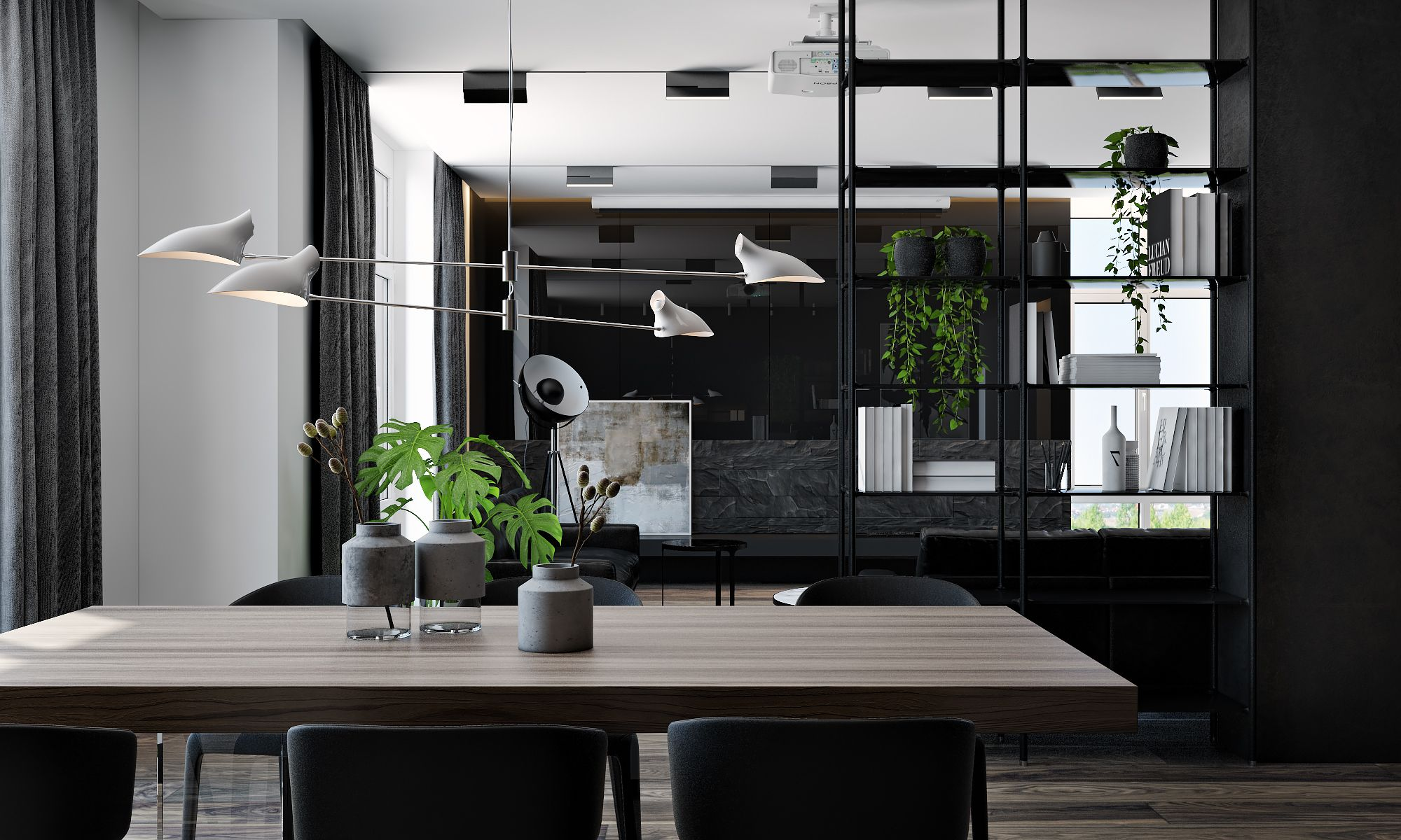 Captivating Although More Common In Small Studio Apartments, Even Sprawling Interiors  Can Benefit From The Sense Of Freedom An Open Plan Layout Allows.