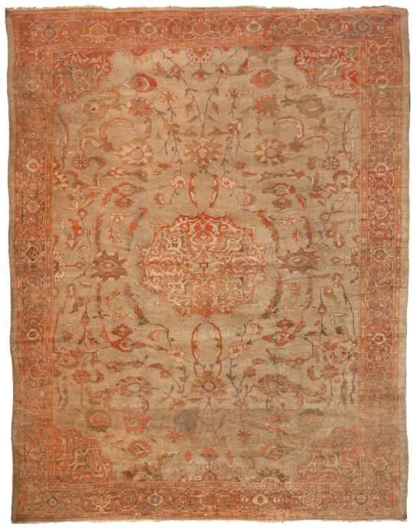 10044 Sultanabad antique rug 10.5x13.2  Woven Accents