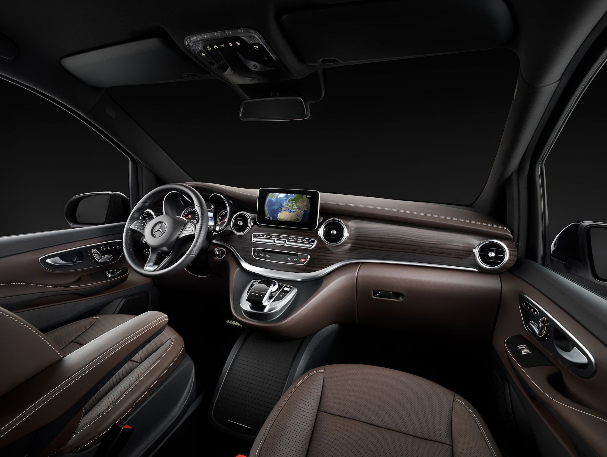 Mercedes benz new v class w447 interior revealed mbhess mbcars