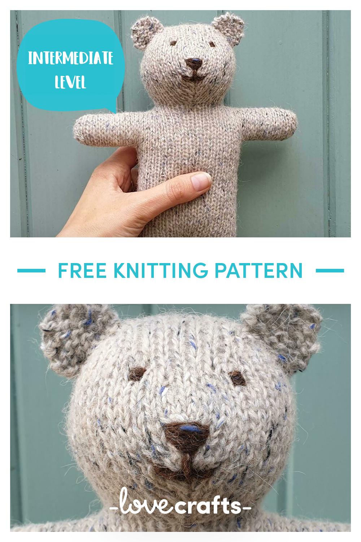 Free Teddy Bear knitting pattern #beartoy