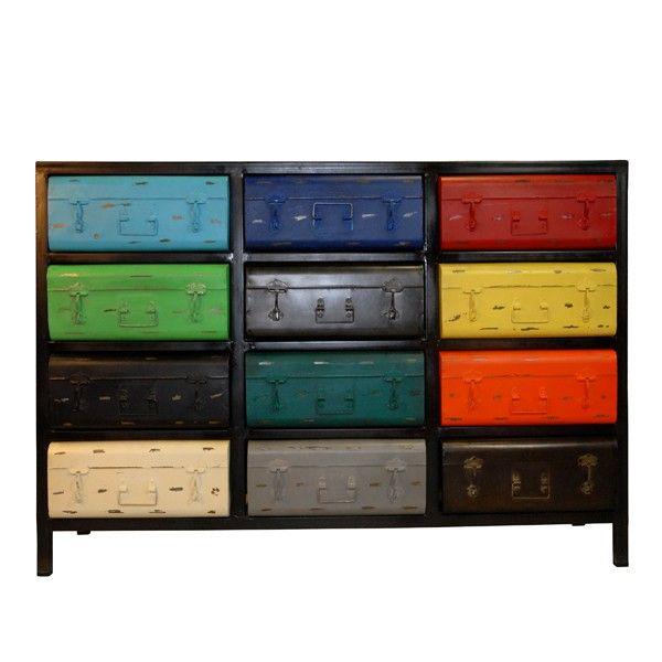 Mettez un peu de couleur dans votre intérieur avec ce meuble de - meuble de rangement avec tiroir