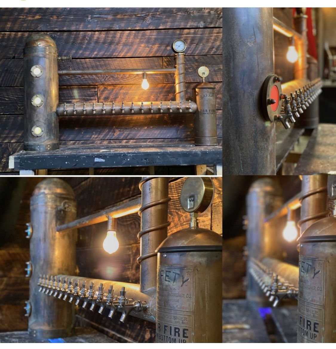 Custom Aged Copper Draft Beer Tap Tower In 2020 Beer Custom Beer Tower Draft Beer Tower