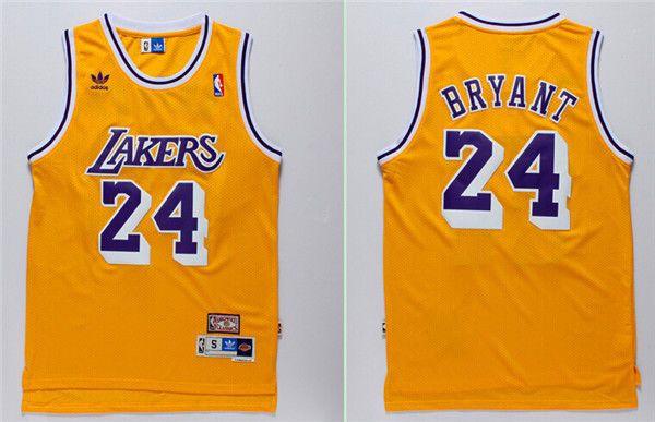 finest selection e24ab 6258b Los Angeles Lakers Kobe Bryant #24 Retro Throwback Swingman ...