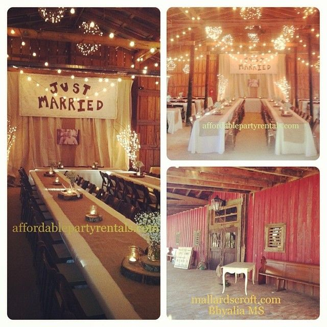 Affordable Party Rentals Vintage Barn Weddings Mallards