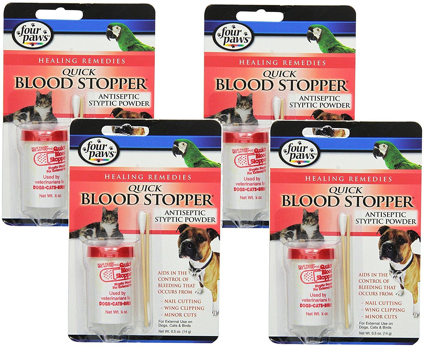 Four Paws Blood Stopper Powder, 0.5 oz (4 Pack) * Check this awesome product by going to the link at the image.