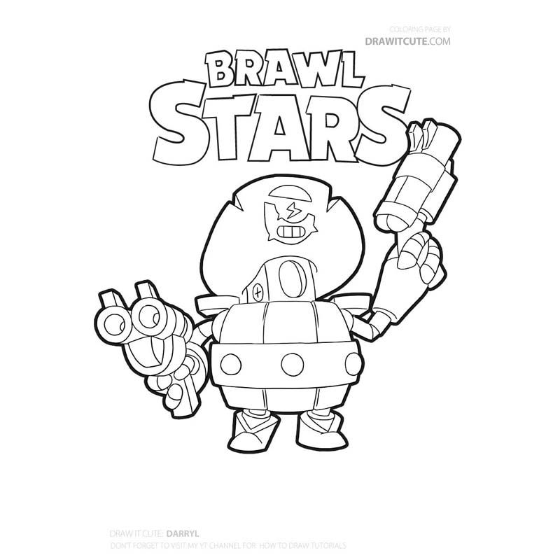 Brawl Stars Archives Color For Fun Star Coloring Pages Coloring Pages Brawl
