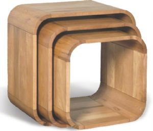 Retro curve oak nest of cube tables lounge ideas pinterest buy oceans apart cadence oak living set of 3 cube from our nest of tables range at tesco direct watchthetrailerfo