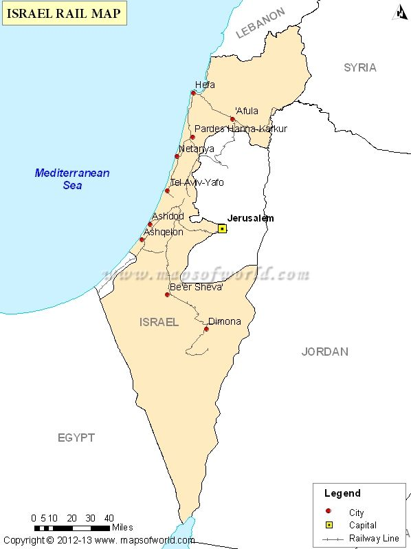 Buy #Israel #Rail #Map | Maps Of World | Pinterest | Israel, Map and ...