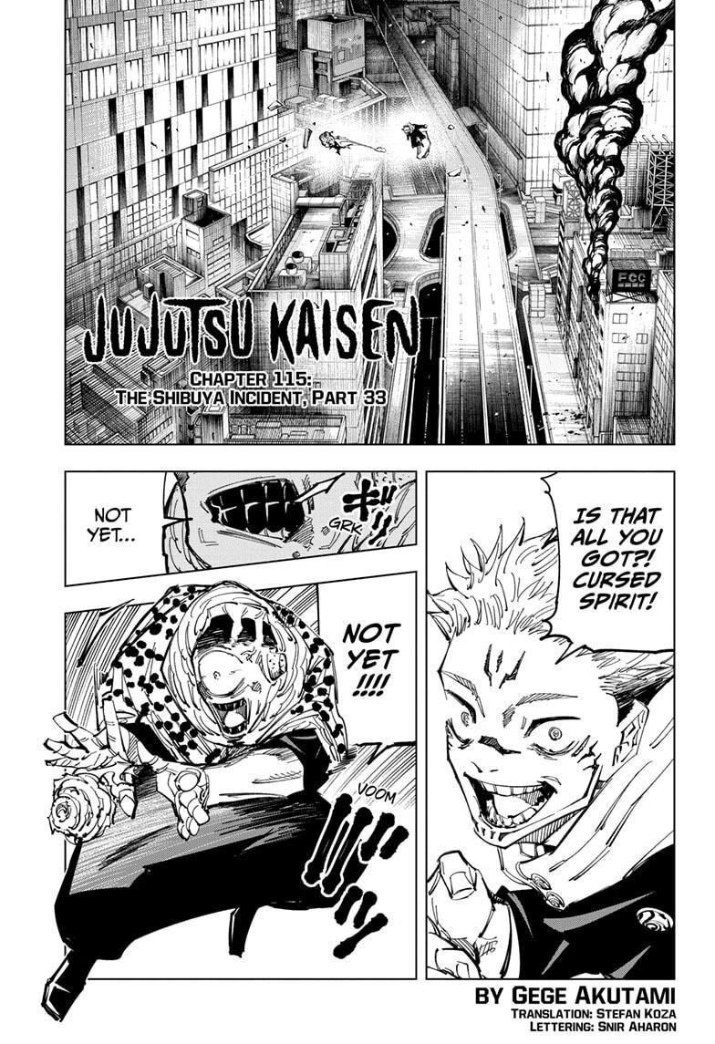 Jujutsu kaisen ch115 mangapark read online for free