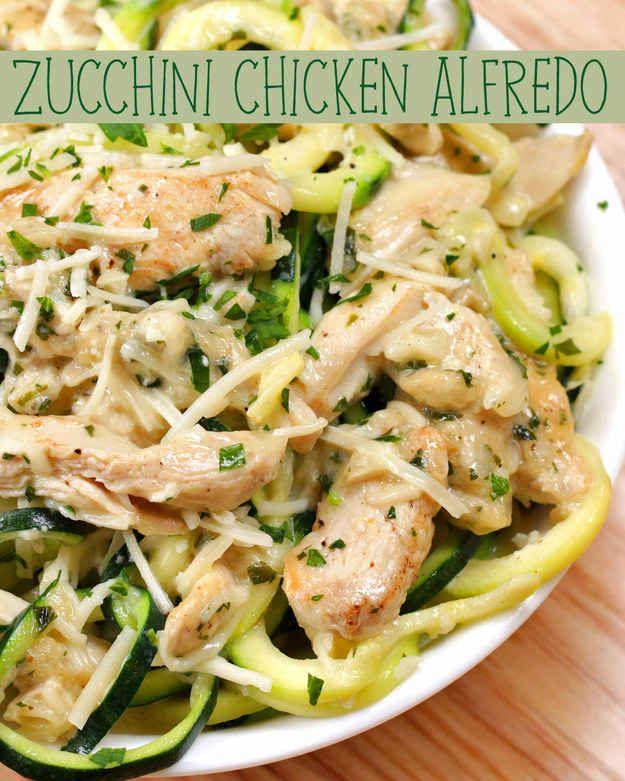 Zucchini Noodle Chicken Alfredo Recipe By Tasty Recipe Healthy Chicken Alfredo Chicken Alfredo Recipes Recipes