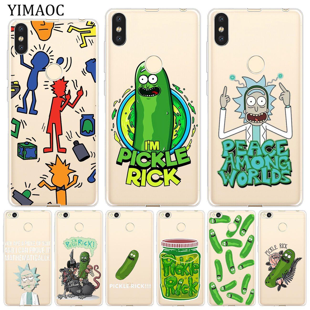 Barato Rick E Morty Pickle Yimaoc Soft Case Para Xiao Mi A2 Softcase Xiaomi Redmi S2 Lite A1