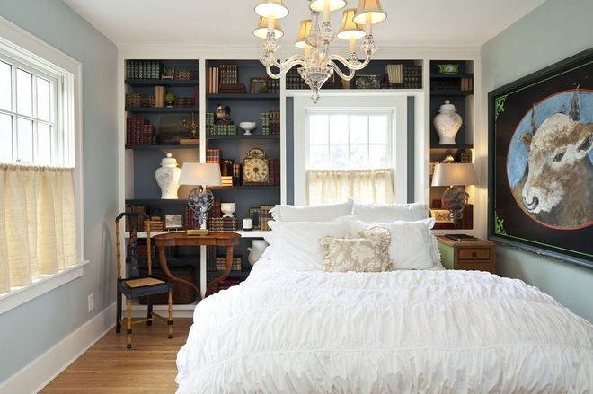 Love the bookcases! traditional bedroom by Hendel Homes Home Sweet