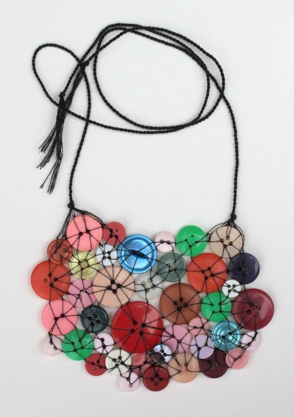 colar de botões vintage, Feito à Mão nenhuma Brooklyn, design squish fazer do blog