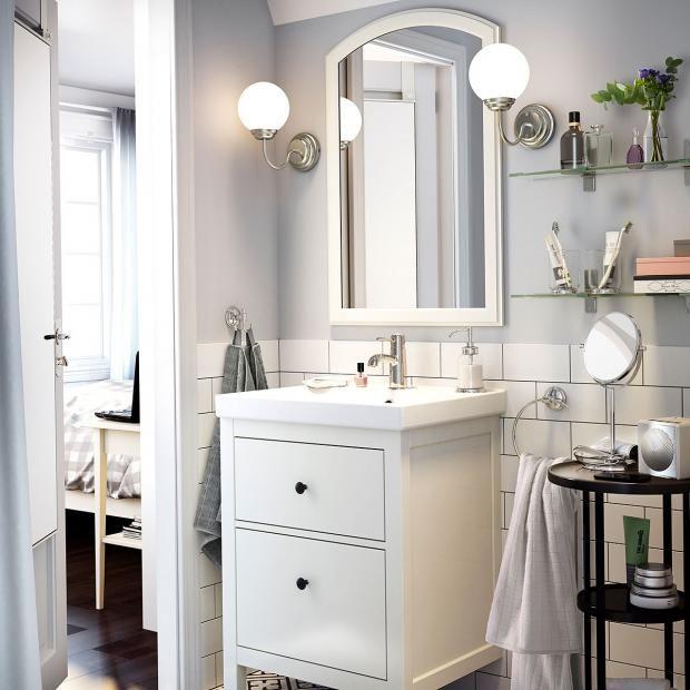Wandleuchte Lillholmen Von Ikea Bild 14 Badezimmer Gestalten Kleines Bad Waschbecken Badezimmereinrichtung