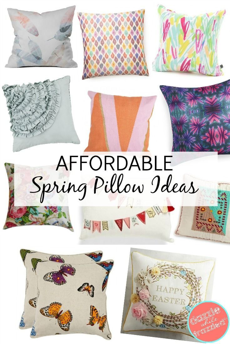 Spring Throw Pillow Ideas How To Decorate For Spring How To Decorate With Throw Pillows How To Decorate A Couch Pillows Spring Pillows Spring Throw Pillows