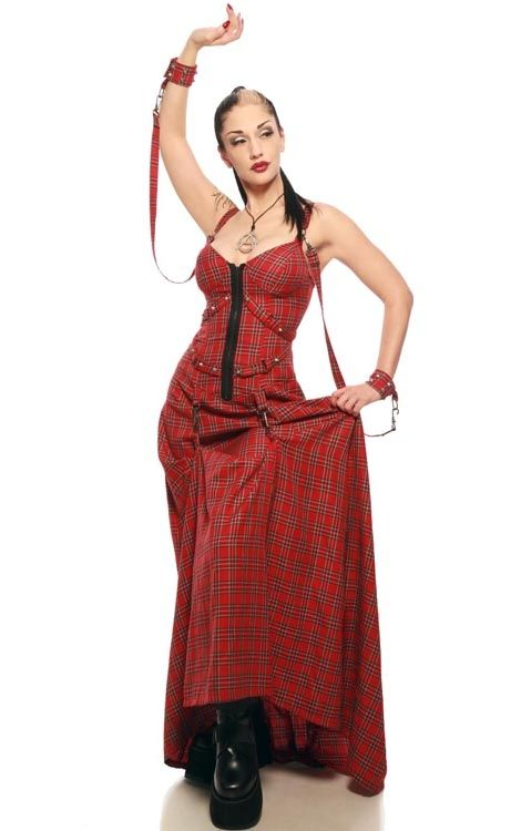 Lip Service Gothic Tartan Gown | Fashion/clothing/wear | Pinterest ...