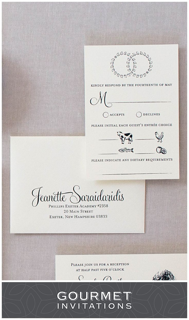 Greek wedding crown invitations blue custom invitations dietary restrictions on response cards can be done with a simple line at the bottom like these rsvp cards we included symbols for the guests meal choices stopboris Gallery