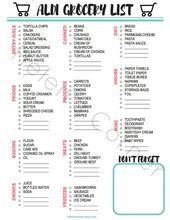 Photo of Aldi Grocery List, Aldi Shopping List, Shopping List Printable, Aldi List printa…