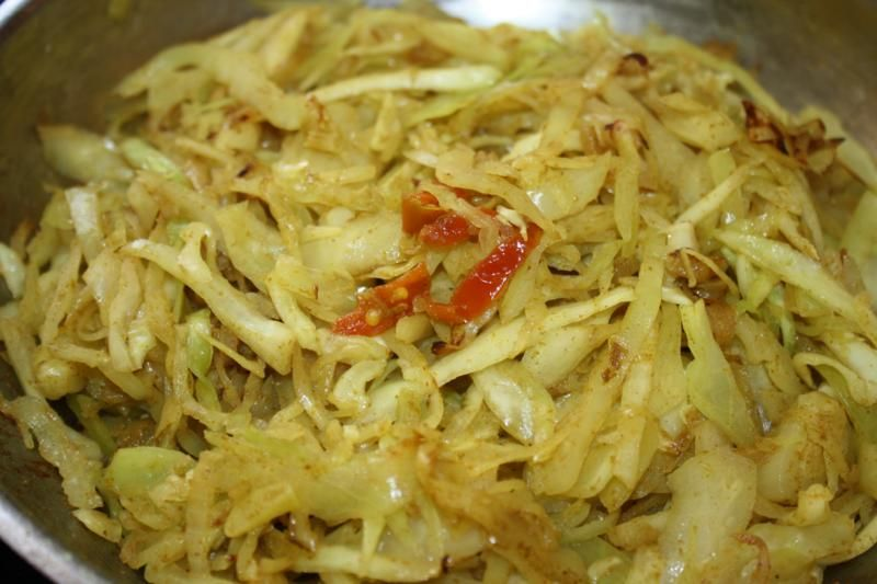A Classic Vegetarian Curry Cabbage Recipe Caribbeanpot Com Cabbage Recipes Vegetarian Curry Caribbean Recipes
